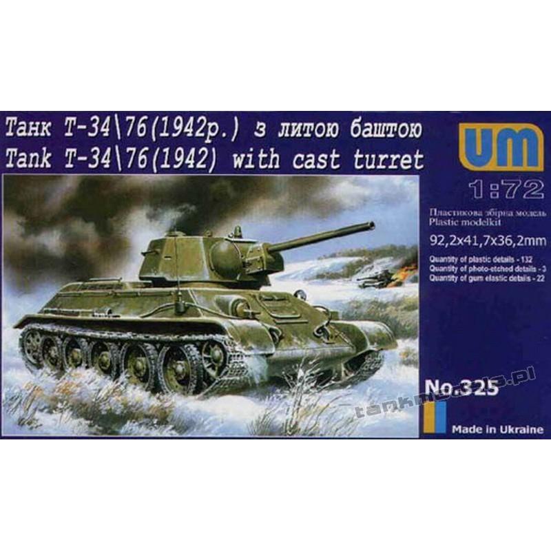 TANK T-34/76 m.1942 (cast turret)