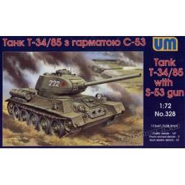 T-34/85 w/gun S-53 - UniModels 328
