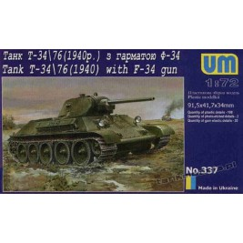 T-34/76 mod. 1940 with F-34 - UniModels 337