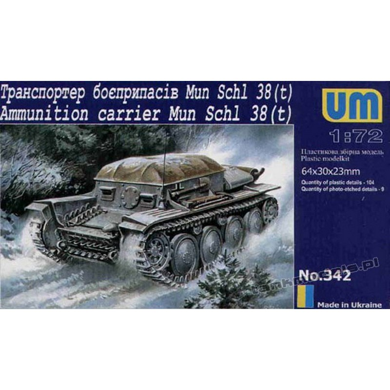 Ammunition Carrier Mun Schl 38 (t)