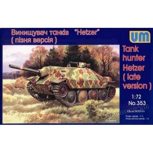 Sd.Kfz.138/2 Hetzer (późna wersja) - UniModels 353