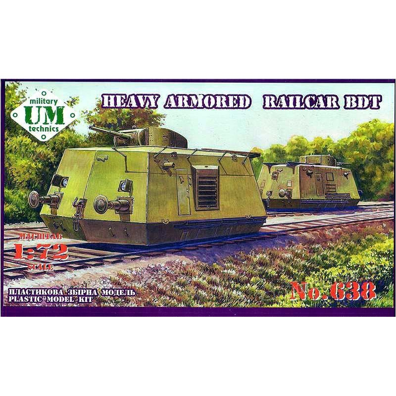 BDT w/ BT-5 turret (Heavy Armored Railcar) - UniModels 638