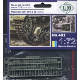 Gąsienice do T-26 / 7TP - UniModels 401
