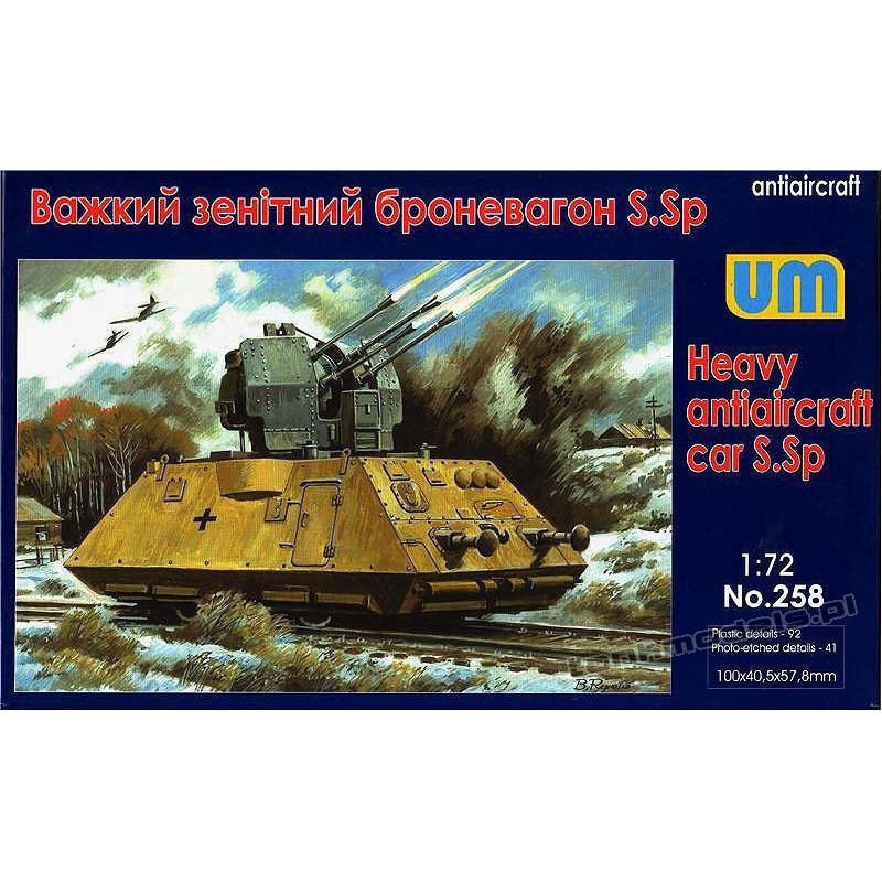 Heavy antiaircraft car S.Sp - UniModels 258