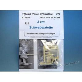 2 cm Schwebelafette for Sd.Kfz. 251 D / Sd.Kfz. 234 - Modell Trans MT 72073