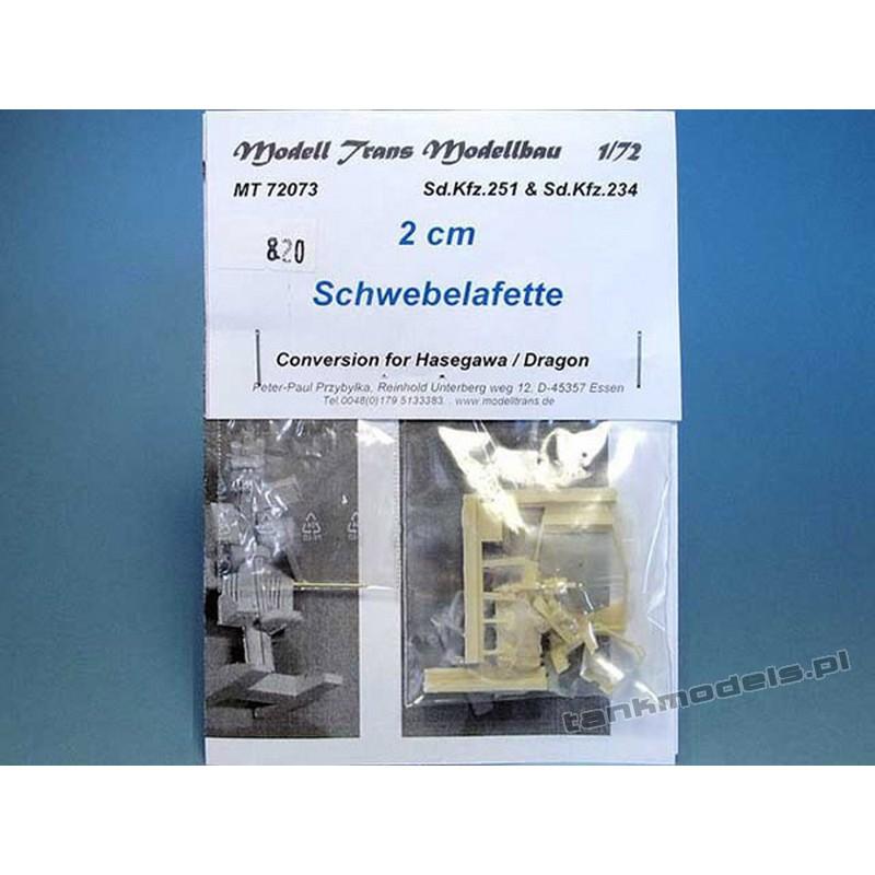 Działko 2cm Schwebelafette do SdKfz 251 D/ 234