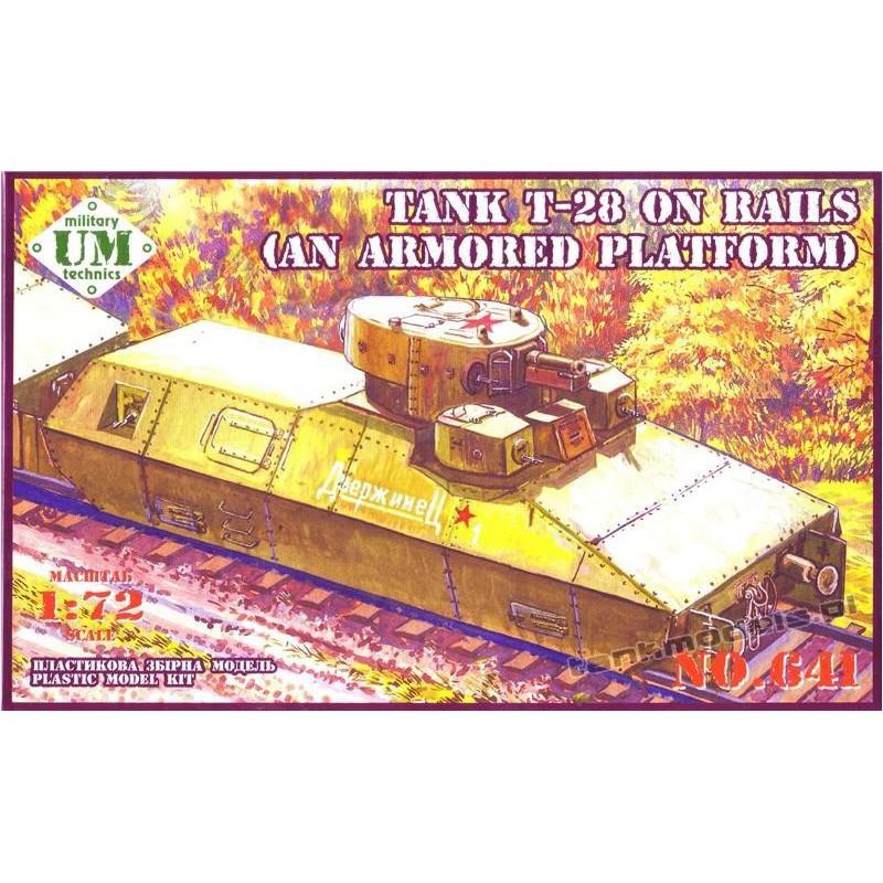 T-28 tank on rails (armored platform) - UMMT 641