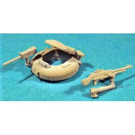 M48 Patton & M60 Patton Urdan cuppola (3 sets) with MG - Modell Trans MT 72227