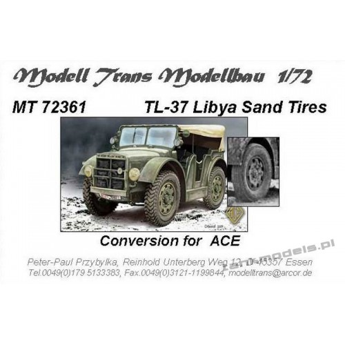Wheels with Libya Sand Tires for TL-37 - Modell Trans 72361