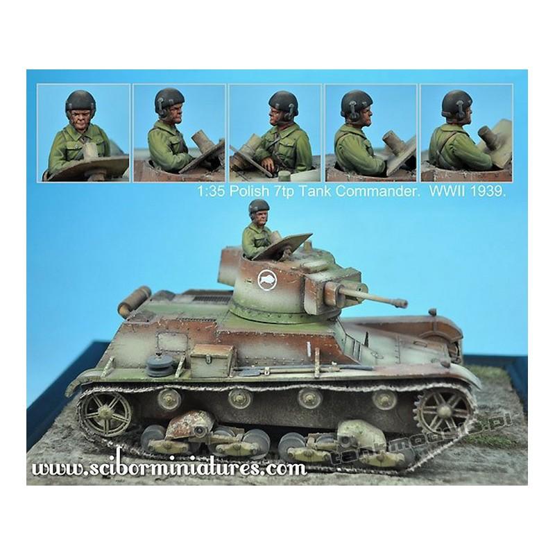 Polish 7TP Tank Commander No.1 - Scibor Miniatures 002