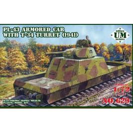 PL-43 with T-34 turret mod. 1941 - UniModels 629