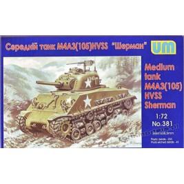 """M4A3 (105) HVSS """"Sherman"""" - UniModels 381"""