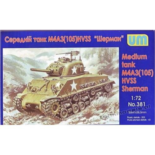 Sherman M4A3 (105) HVSS - UniModels 381
