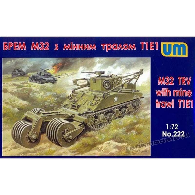 M32 TRV with mine trawl T1E1 - UNIMODELS 222