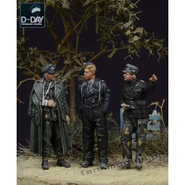 German Panzerwaffe SS Officers 1944 - D-Day Miniature 72001