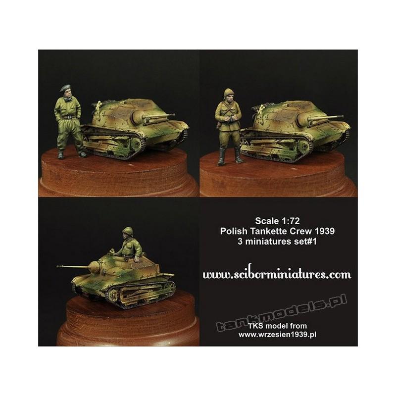 Polish TKS Tankette Crew Set 1 - Scibor Miniatures 72HM0003