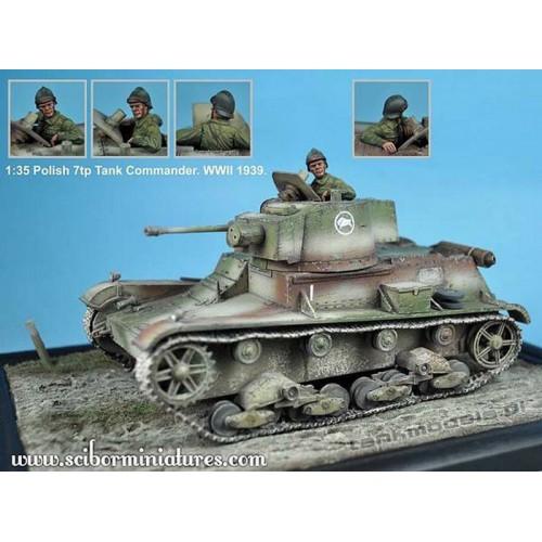 Polish 7TP Tank Commander No.2 - Scibor Miniatures 35004