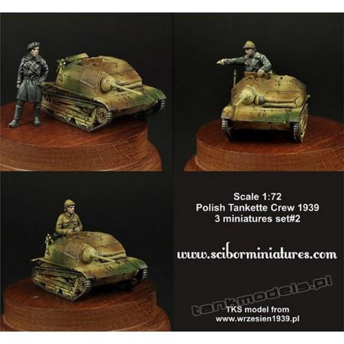 Polish TKS Tankette Crew Set 2 - Scibor Miniatures 72HM0005