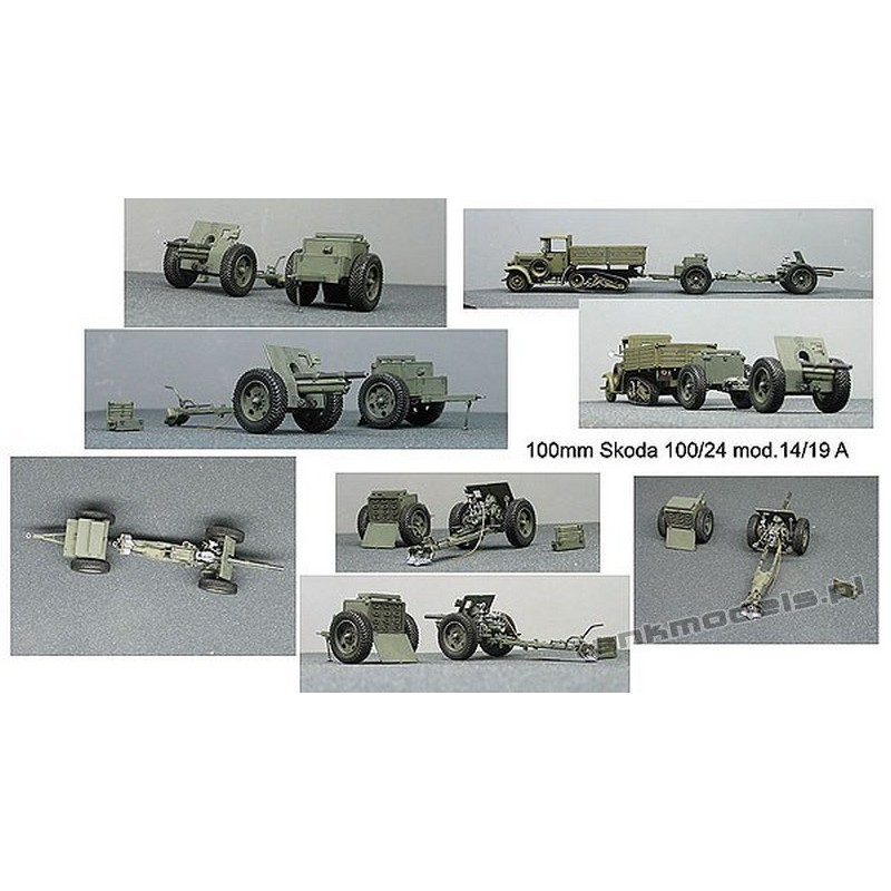 100mm Skoda 100/24 wz. 14/19 A w/ammo carrier - Mars 7275
