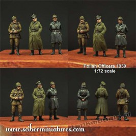 Polscy Oficerowie 1939 Set. 1 - Scibor Miniatures 72HM0008