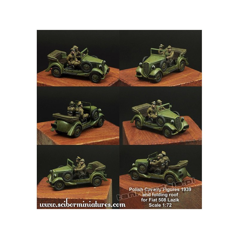 Polish Crew and roof for Fiat 508 - Scibor Miniatures 72HM0017