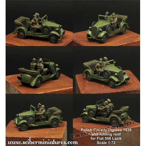 Polish Fiat 508 Crew and roof - Scibor Miniatures 72HM0017