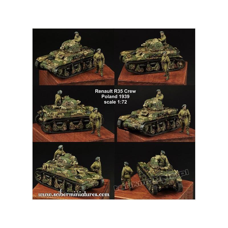 Polish Renault R35 Crew Set - Scibor Miniatures 72HM0021