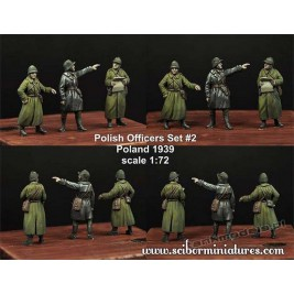 Polish Officers 1939 Set. 2 - Scibor Miniatures 72HM0018