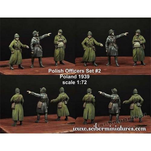 Polish Officers 1939 Set. 2 - Scibor Miniatures 72HM0018