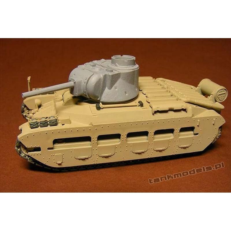 Red Matilda A12 with 76,2 mm gun - Modell Trans 72424