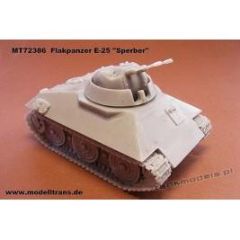 """E-25 Flakpanzer """"Sperber"""" Panzerwaffe '46 - Modell Trans MT 72386"""